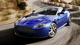 aston martin, v8, vantage, 2011, blue, front view, speed, aston martin, track - wallpapers, picture
