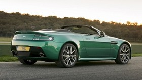aston martin, v8, vantage, 2011, green, side view, auto, aston martin, nature - wallpapers, picture