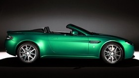 aston martin, v8, vantage, 2011, green, side view, style - wallpapers, picture