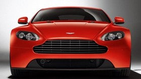 aston martin, v8, vantage, 2012, red, front view, car - wallpapers, picture