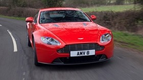 aston martin, v8, vantage, 2012, red, front view, auto, aston martin, asphalt - wallpapers, picture