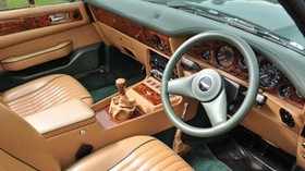 aston martin, v8, vantage, volante, 1984, salon, interior, steering wheel, speedometer - wallpapers, picture
