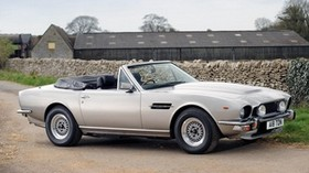 aston martin, v8, volante, 1977, white, side view, auto, aston martin, asphalt - wallpapers, picture