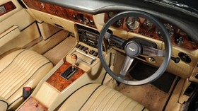 aston martin, v8, volante, 1977, beige, salon, interior, steering wheel, speedometer - wallpapers, picture