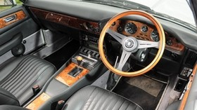 aston martin, v8, volante, 1977, black, salon, interior, steering wheel, speedometer, retro - wallpapers, picture