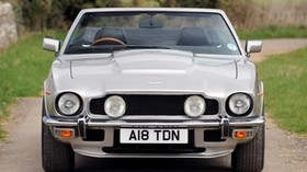 aston martin, v8, volante, 1977, silver, front view, retro, aston martin, auto - wallpapers, picture
