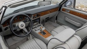 aston martin, v8, volante, 1977, gray, salon, interior, steering wheel, speedometer - wallpapers, picture