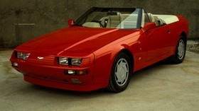 aston martin, v8, volante, 1988, red, front view, style, aston martin, convertible - wallpapers, picture