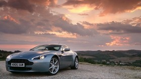 aston martin, vantage, side view, sunset - wallpapers, picture