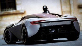 aston martin, rear view, black, sports car - wallpapers, picture