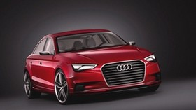 audi, a3, red, front view - wallpapers, picture