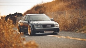 audi, a4, audi, autumn - wallpapers, picture