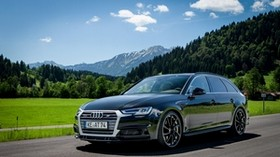 audi, a4, avant, movement, road - wallpapers, picture