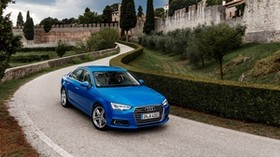 audi, a4, tfsi, quattro, blue, side view - wallpapers, picture
