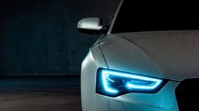 audi a5, audi, headlight, light, neon, xenon - wallpapers, picture
