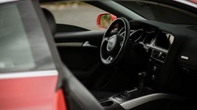 audi a5, audi, steering wheel, machine, salon, black - wallpapers, picture