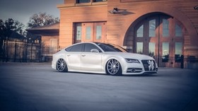 audi, a7, vossen, tuning, wheels - wallpapers, picture