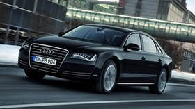 audi, a8l, black, side view - wallpapers, picture