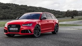 audi, avant, rs6, side view, red - wallpapers, picture