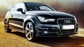 audi, auto, side view, black - wallpapers, picture