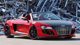 audi r8, audi, convertible, dump, front view - wallpapers, picture