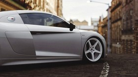 audi r8, audi, wheel, side view - wallpapers, picture