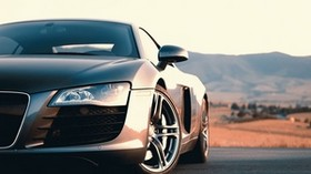 audi r8, audi, car, gray, sports car, front view - wallpapers, picture