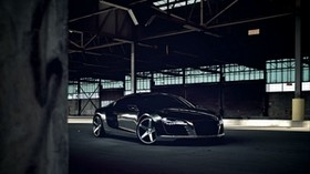 audi, r8, chrome, black, cw-5, matte black - wallpapers, picture