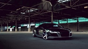 audi, r8, chrome, cw-5, matte black, black, side view - wallpapers, picture