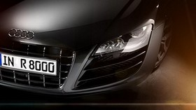 audi, r8, headlights, front bumper - wallpapers, picture