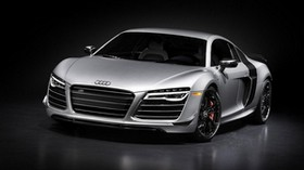 audi r8, silver, front view - wallpapers, picture