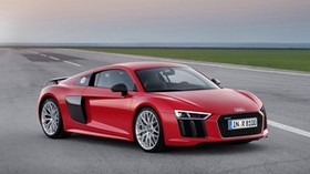 audi, r8, v10, red, 2015 - wallpapers, picture