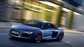 audi, r8, v10, blue, side view - wallpapers, picture