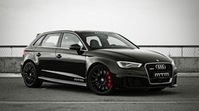 audi, rs3, mtm, side view, black - wallpapers, picture