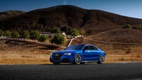audi, rs5, blue, side view - wallpapers, picture