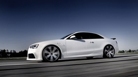 audi, rs5, side view, white - wallpapers, picture