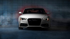 audi, rs5, front view, white - wallpapers, picture