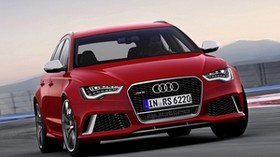 audi, rs6, red, front bumper - wallpapers, picture