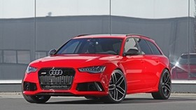 audi, rs6, red, side view - wallpapers, picture