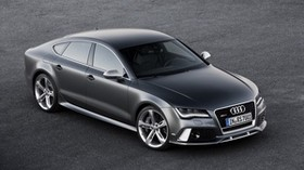 audi, rs7, black, side view - wallpapers, picture