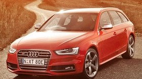 audi, s4, avant, red, side view - wallpapers, picture