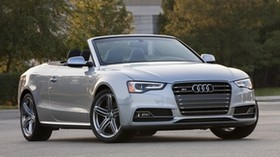 audi, s5, convertible, gray, front view - wallpapers, picture