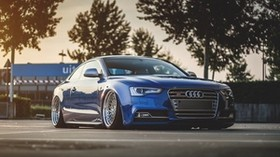 audi, s5, tuning, wheels, side view - wallpapers, picture