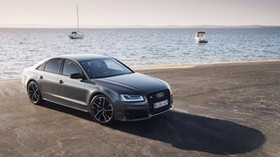audi, s8, side view, sea - wallpapers, picture