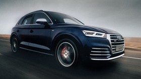 audi sq5, audi, road, movement, speed - wallpapers, picture