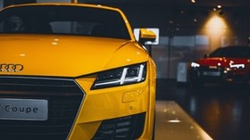 audi tt, audi, front view, headlight - wallpapers, picture