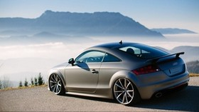 audi tt, austria, fog, tuning, mountains - wallpapers, picture