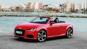 audi, tt, roadster, quattro s, convertible, red - wallpapers, picture