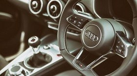 audi, tts, steering wheel, interior - wallpapers, picture