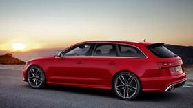 audi, v-8, rs6 avant, red, side view - wallpapers, picture